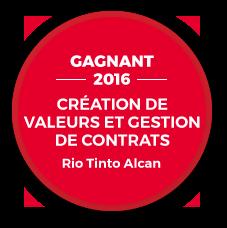 Gagnant 2016 - Création de valeurs et gestion de contrats