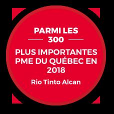 Parmis les 300 plus importantes pme du Quebec en 2018